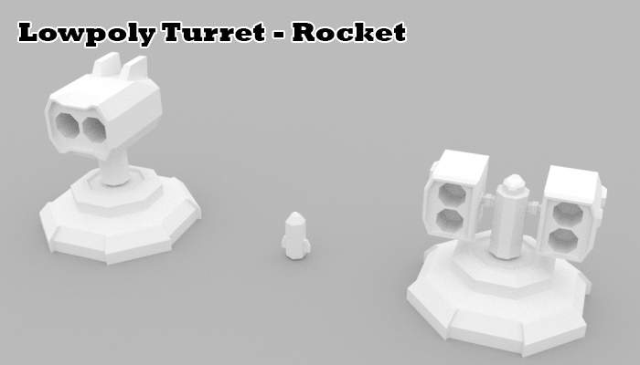 Lowpoly Turret Rocket
