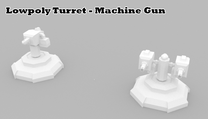 Lowpoly Turret Machine Gun