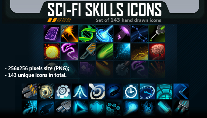 Sci-Fi Skill Icon Pack