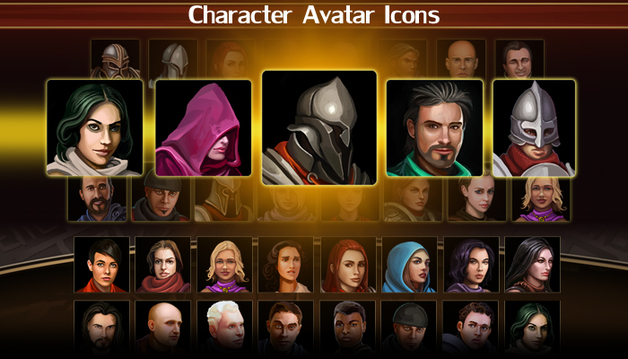 Character Avatar Icons