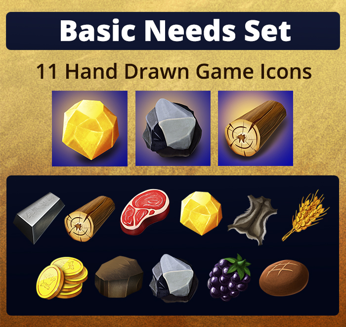 Basic Needs Icons Set