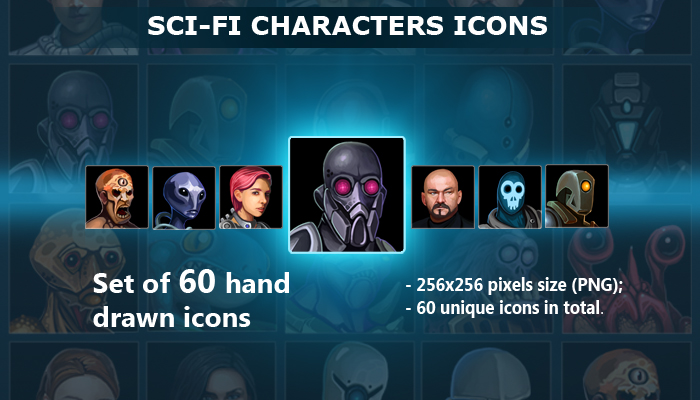 Sci-Fi Characters Icons