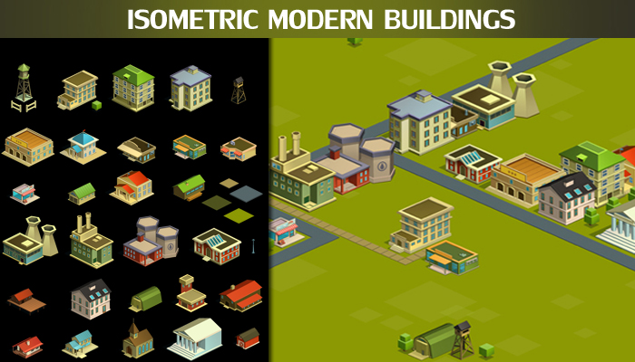 Isometric Modern Buildings