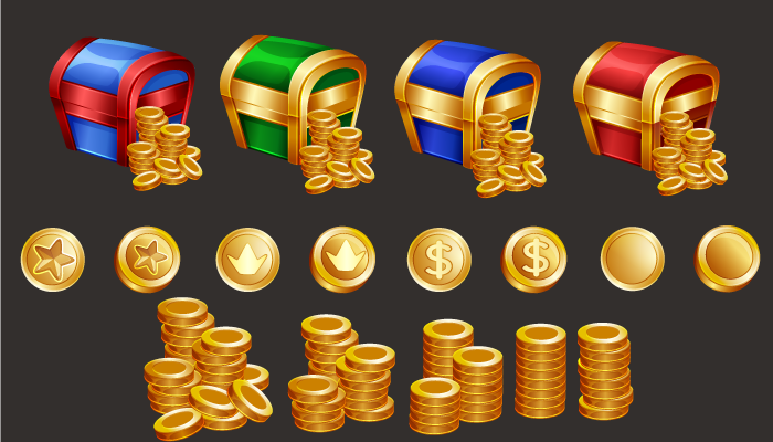 Gold coins icons