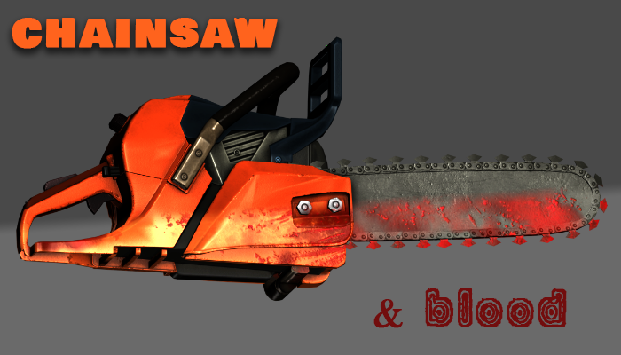 Chainsaw with additional Blood Texture