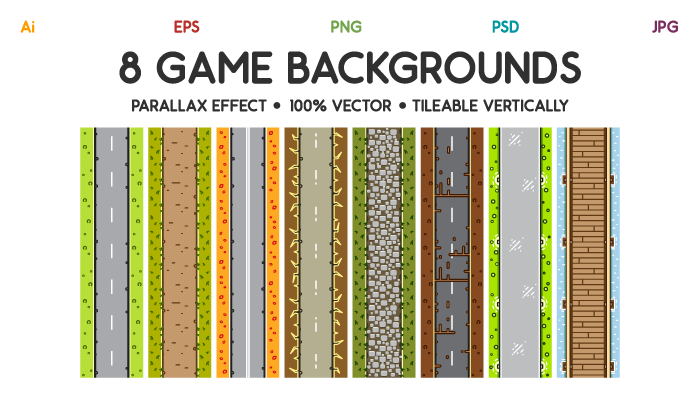 8 Top-Down Game Backgrounds