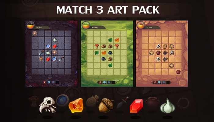 Match-3 Art Pack
