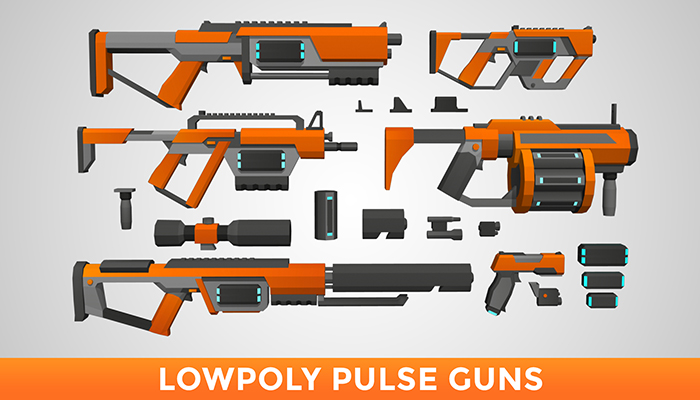 LowPoly Pulse Guns