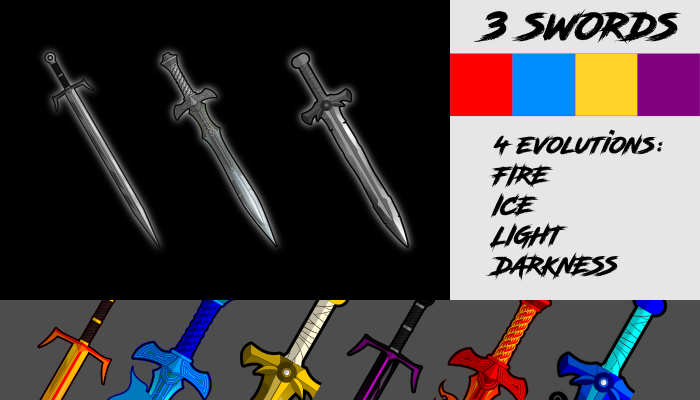 2d fantasy swords plus evolution