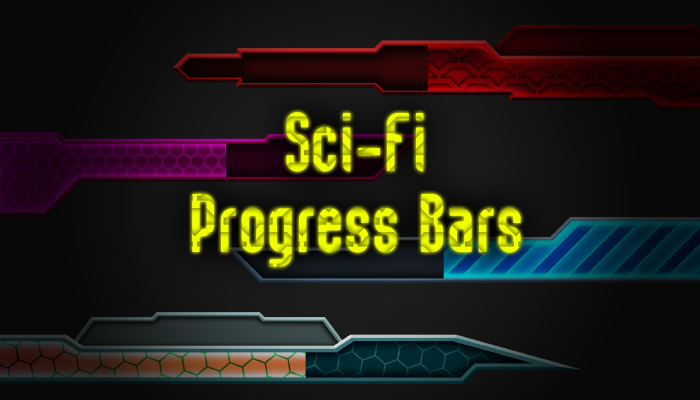 Progress Bars – Sci-Fi Ui Pack