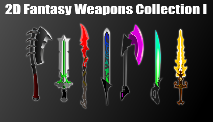 2d fantasy weapons