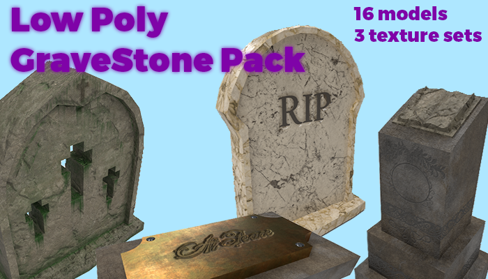 Tombstone Package – Village Asset Pack 1