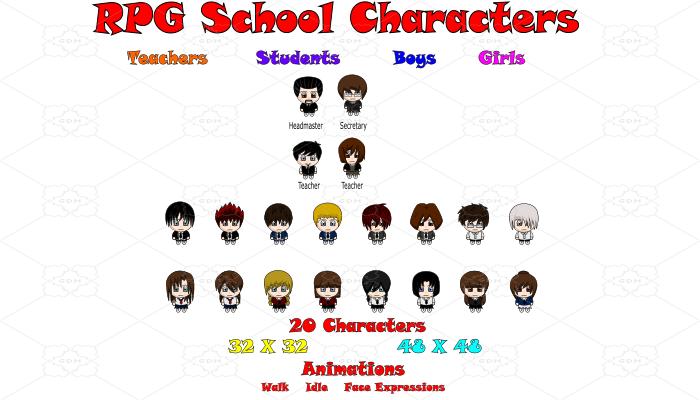 RPG School Characters