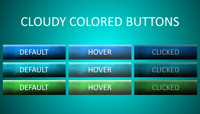 Cloudy Colored Buttons