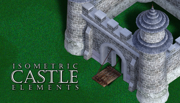Isometric Castle Elements
