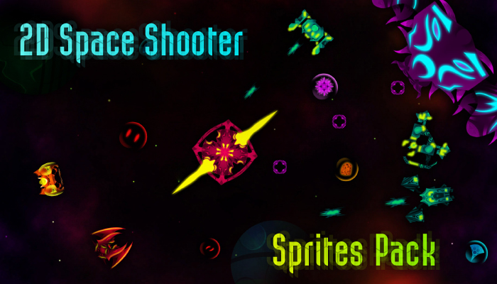 2D Space Shooter – Sprites Pack
