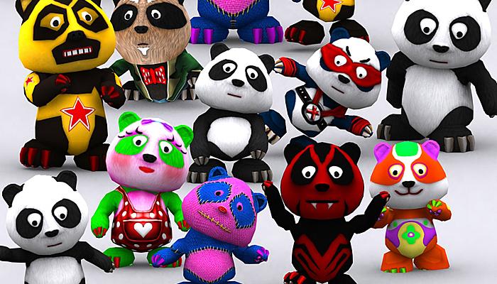 3DRT – Toonpets Pandas