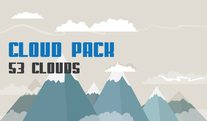 Background Cloud Pack Elements