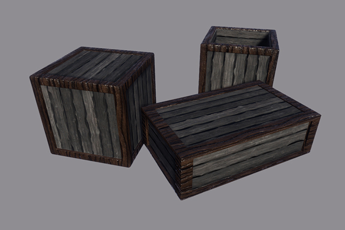 JD – Crates and Boxes with PBR Textures