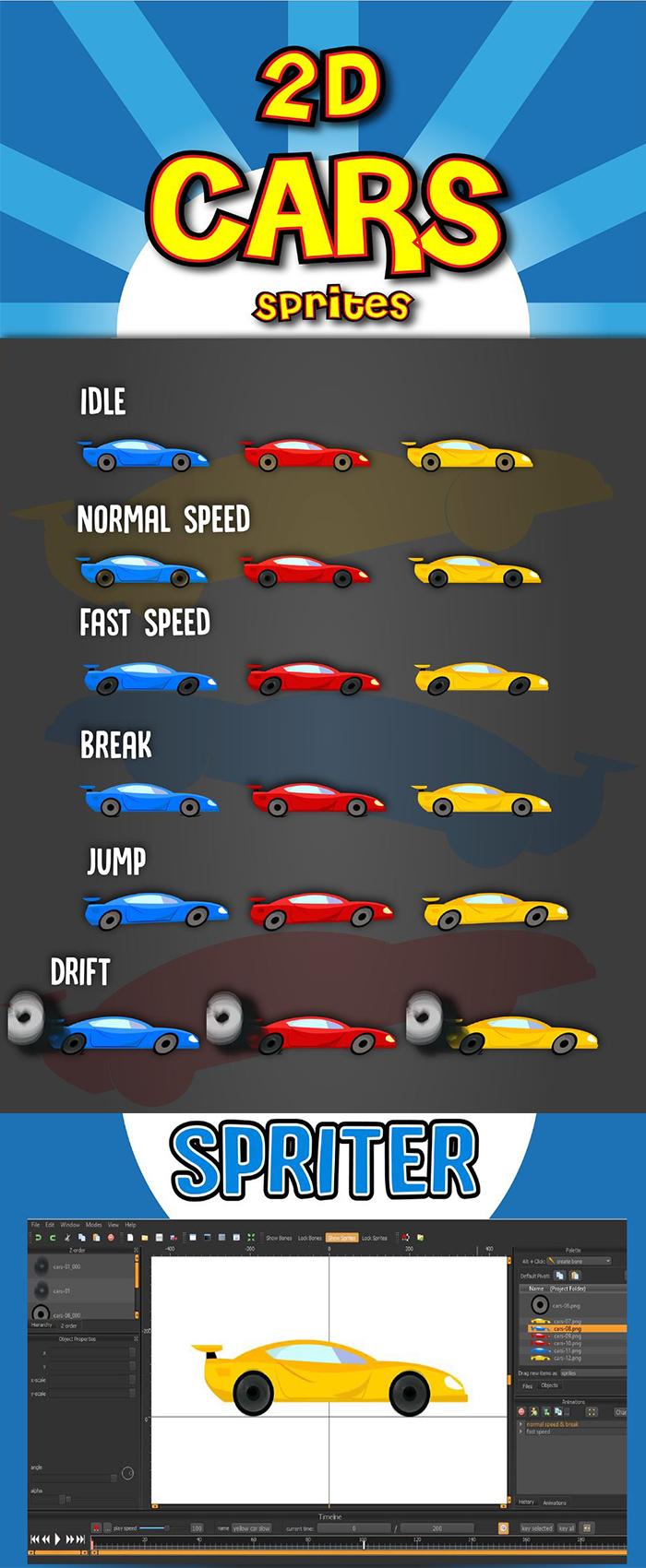 2d Cars Sprites