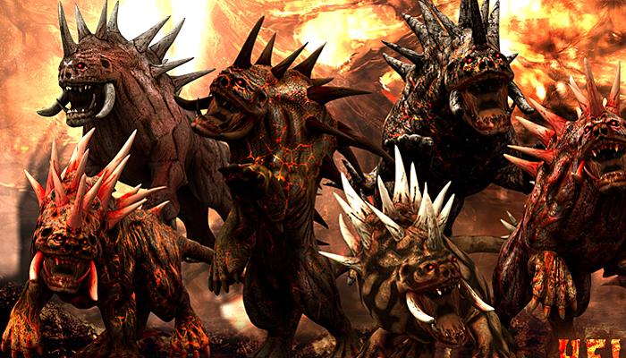 3DRT – Hellhound monster