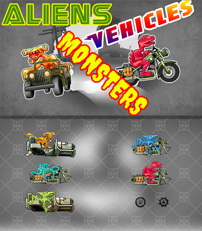 Aliens, Monsters and Vehicles