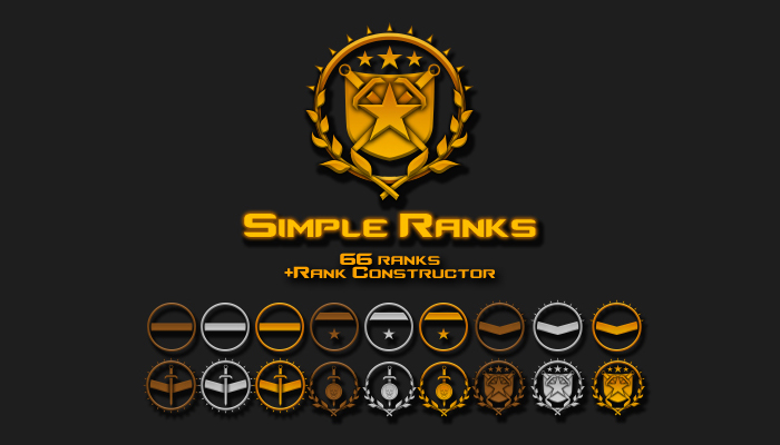 Simple Ranks – Icons Pack
