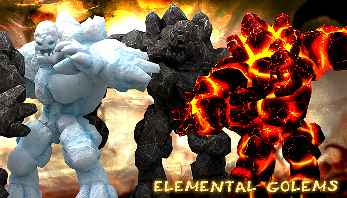 3DRT – Elemental Golems