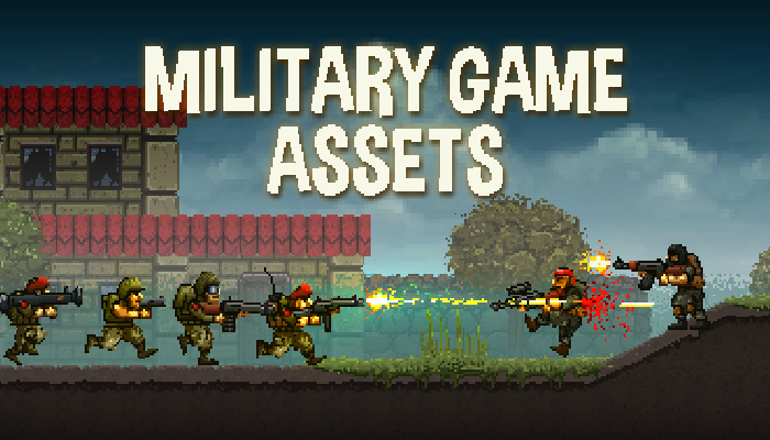 Pixel Art Military Platformer Assets