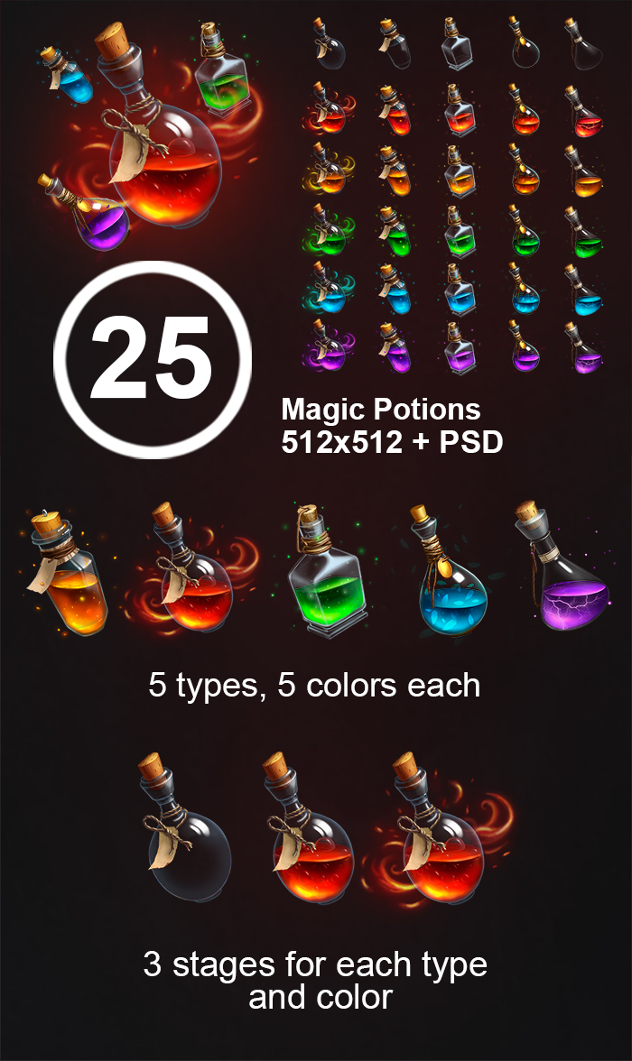 Magic potions pack
