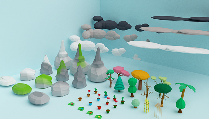 Low Poly Plant and Nature Asset Pack