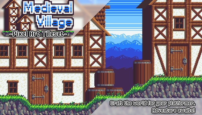 Medieval Village – Pixel Art Tileset