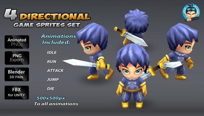 4-Direcional Game Sprites
