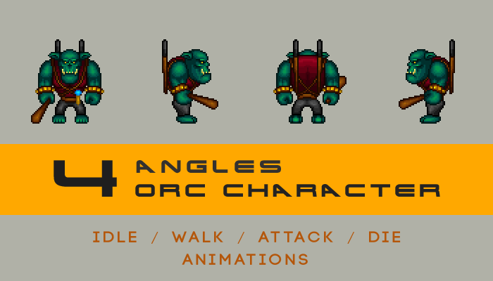 pixel style orc character