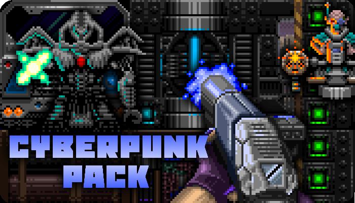 Cyberpunk 2,5D FPS Pack