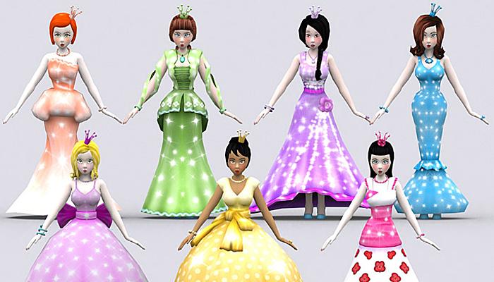3DRT – Fantasy Princesses