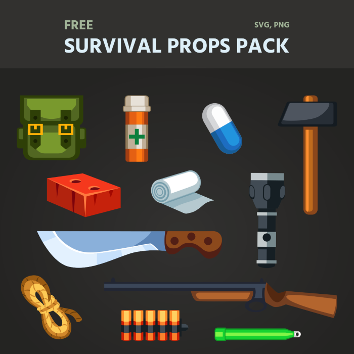 Free Survival Props Pack