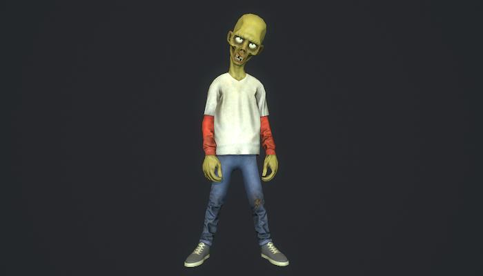 Cartoon style zombie