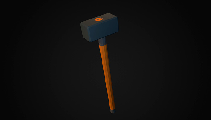 Low poly sledgehammer v.1
