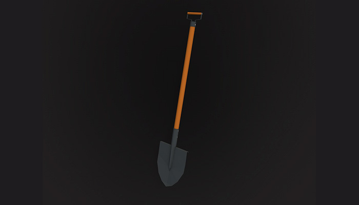 Low poly shovel