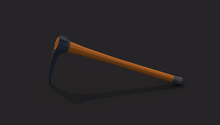 Low poly pickaxe v.2