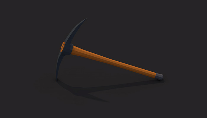 Low poly pickaxe v1