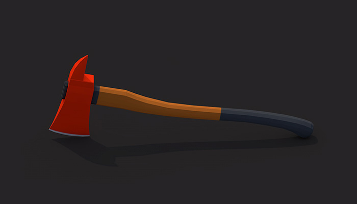 Low poly fireaxe