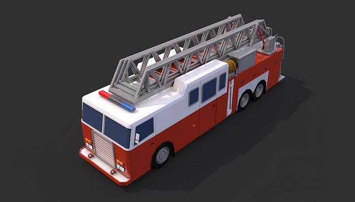 Low Poly Firetruck