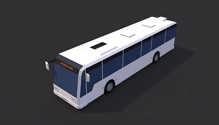 Low Poly Bus City
