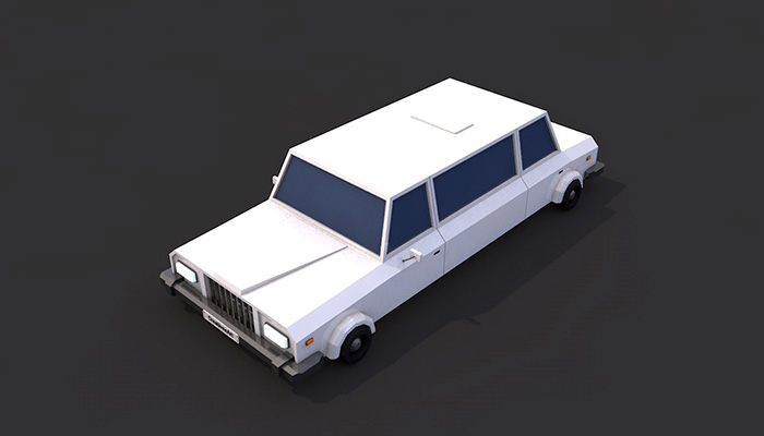 Low Poly Limousine