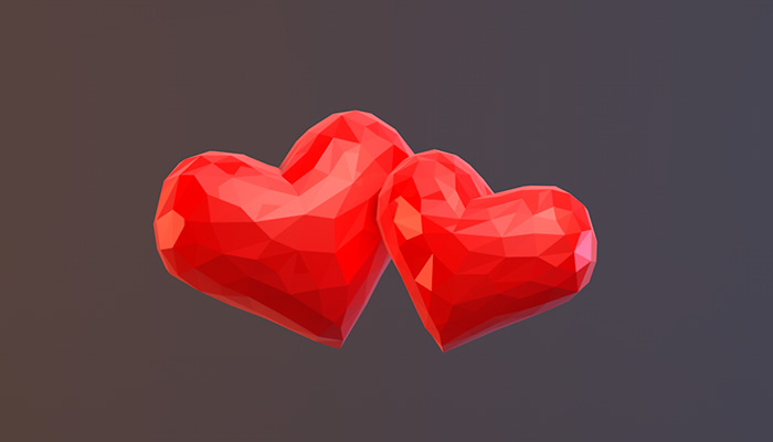 Polygonal Hearts