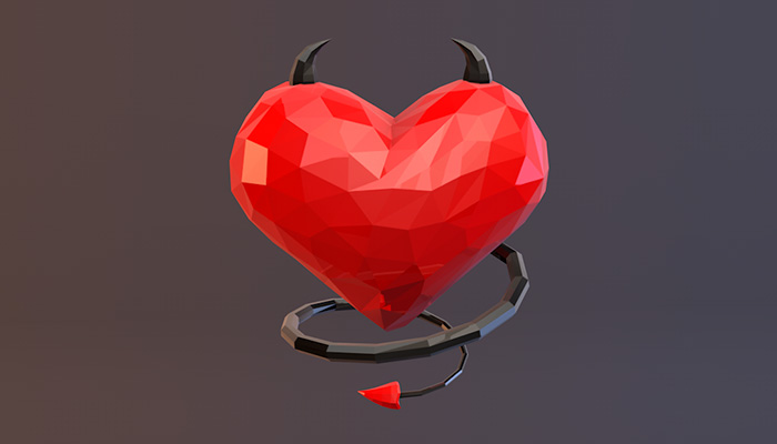 Low Poly Devil Heart