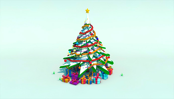 Low Poly Snow Christmas Tree