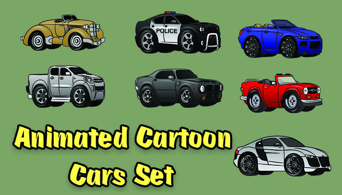 2d Animated car set
